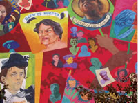 "Dolores Huerta, detail from ""When Women Pursue Justice"", sponsored by Artmakers, Inc."
