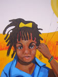 """Bronx Allegory"" (detail),  acrylic on concrete, 15' x 40', 2007<br> for the The Health and Hospitals Corporation"